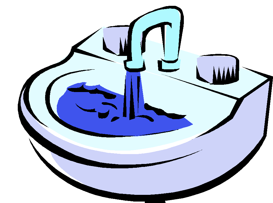 Sink clipart boy. Faucet and steel double