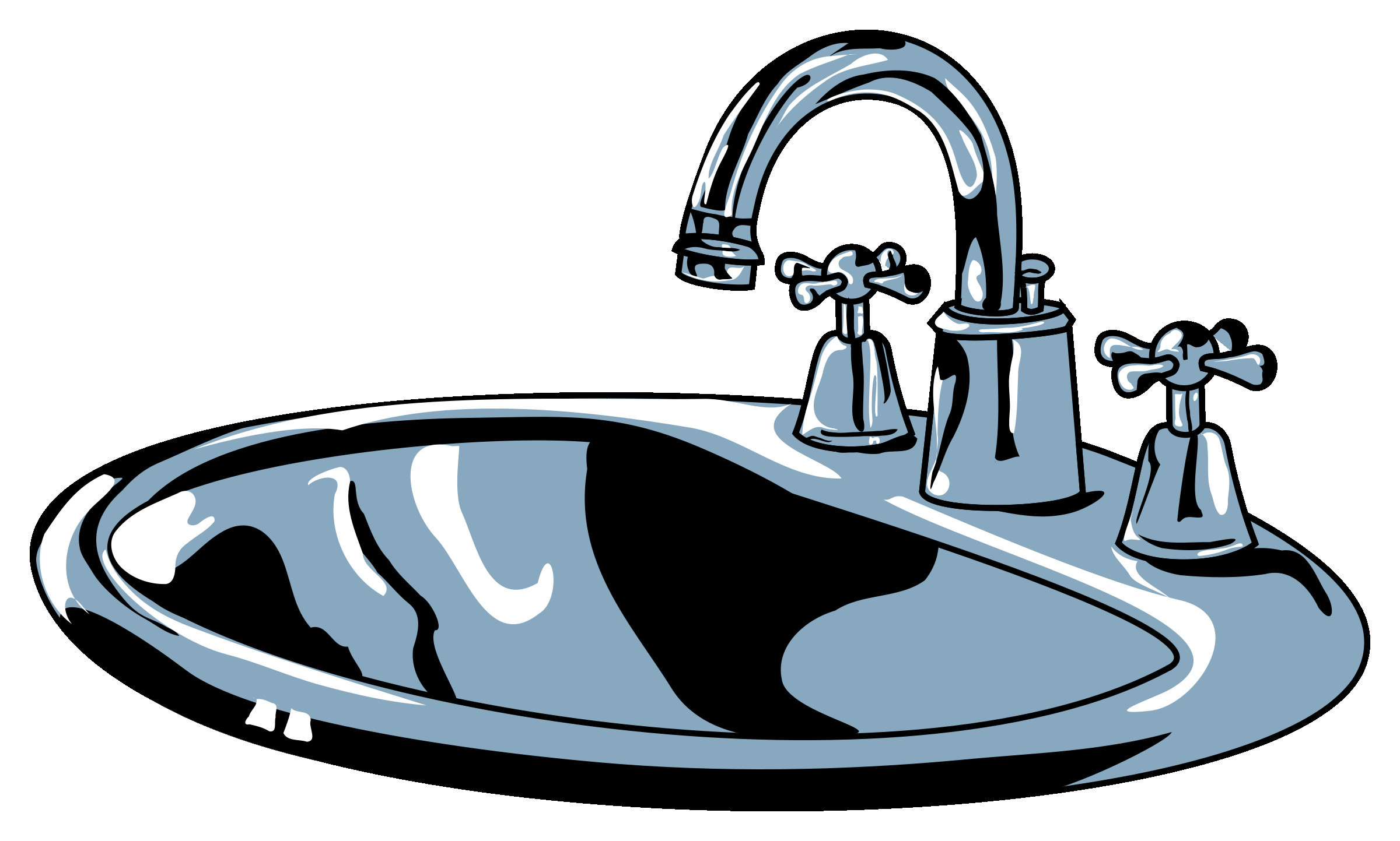 Faucet clipart sink faucet. Black bathroom new clipartuse