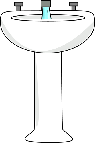 Faucet clipart toilet. Bathroom sink and running