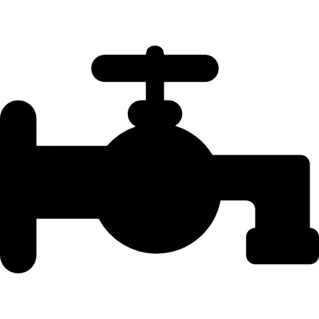 Faucet clipart water spout. Bathroom tap silhouette icons