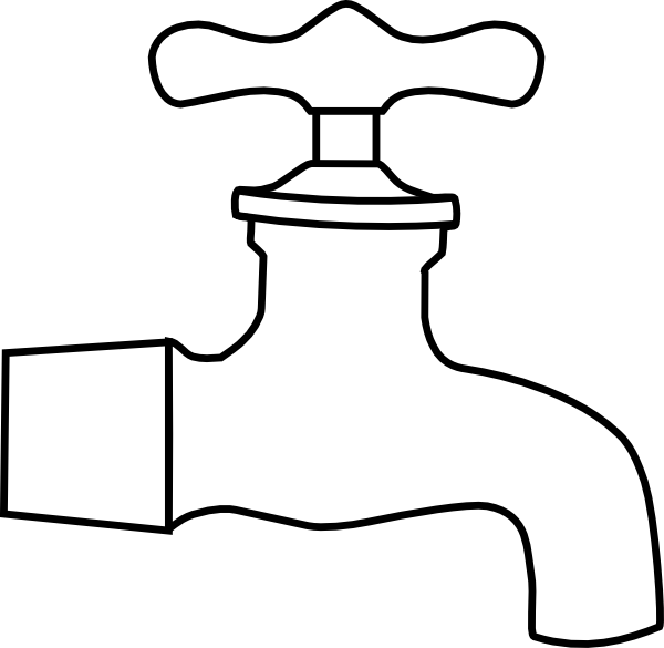 Faucet clipart water treatment. Black and white panda