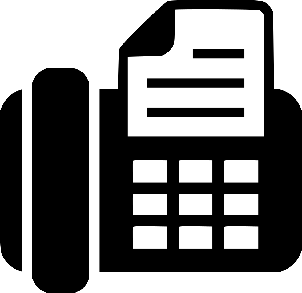 Fax vector icon. Svg png free download