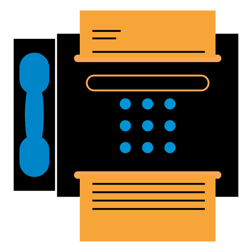 Fax vector machine. Icon transparent png svg