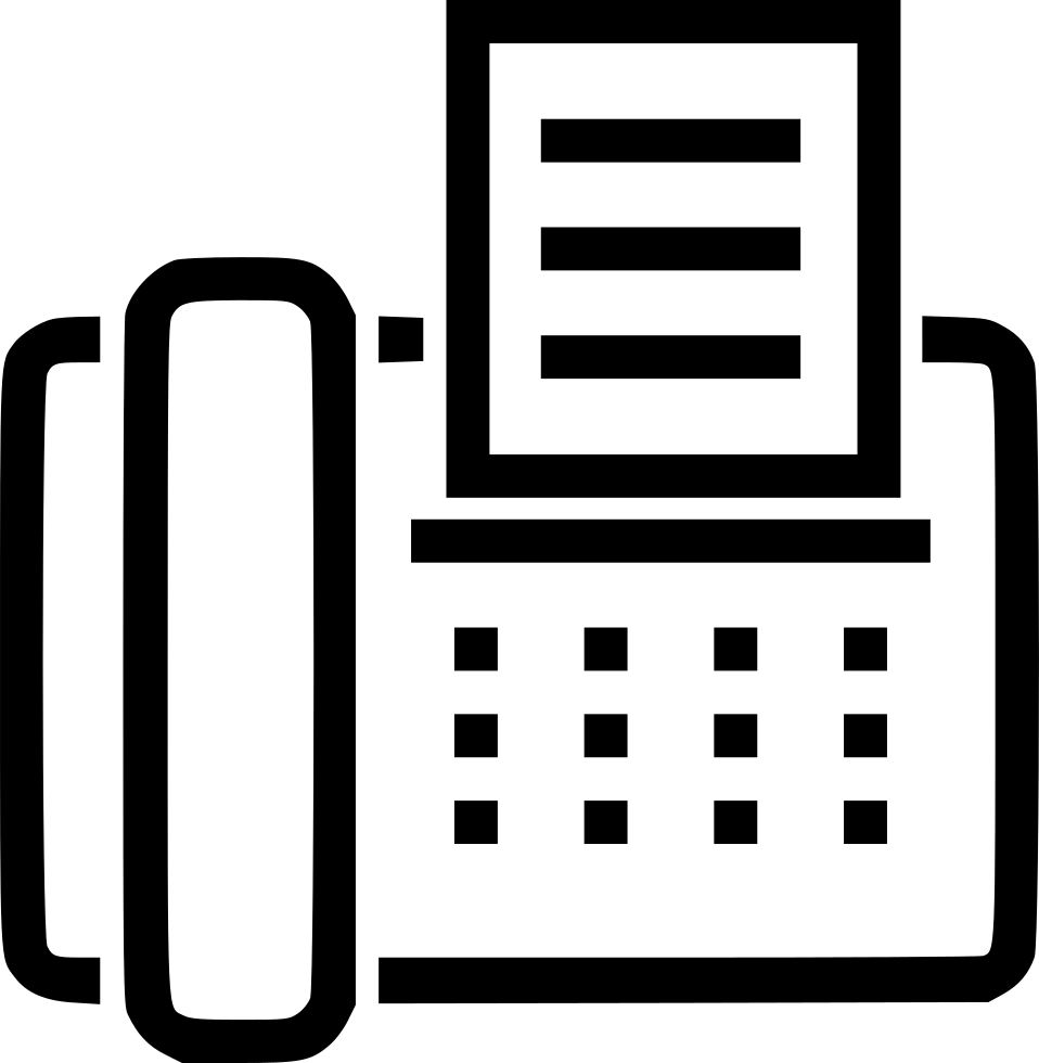 Fax vector machine. Svg png icon free