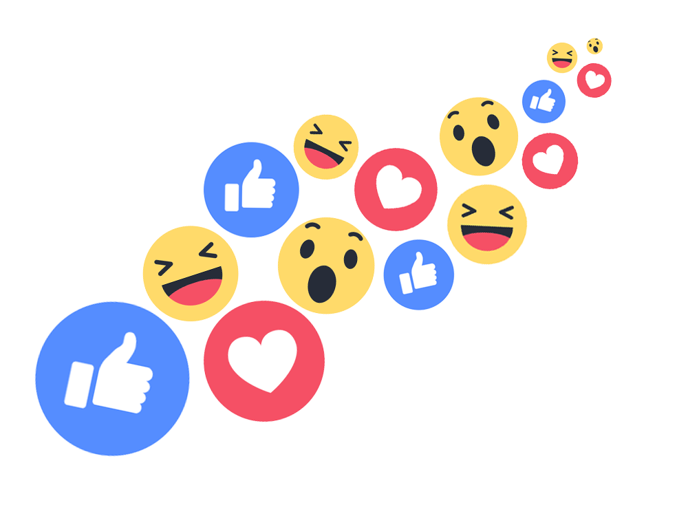 Fb reaction buttons png. Ready to express yourself