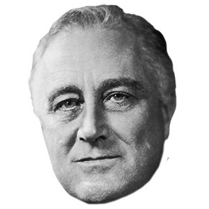 Fdr drawing white. Franklin d roosevelt face