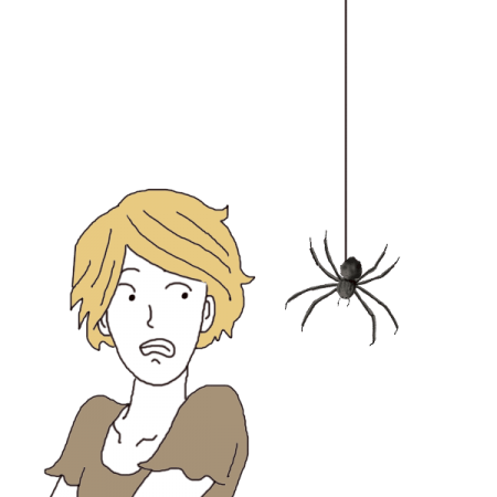 Fear clipart bad dream. Killing a spider dictionary