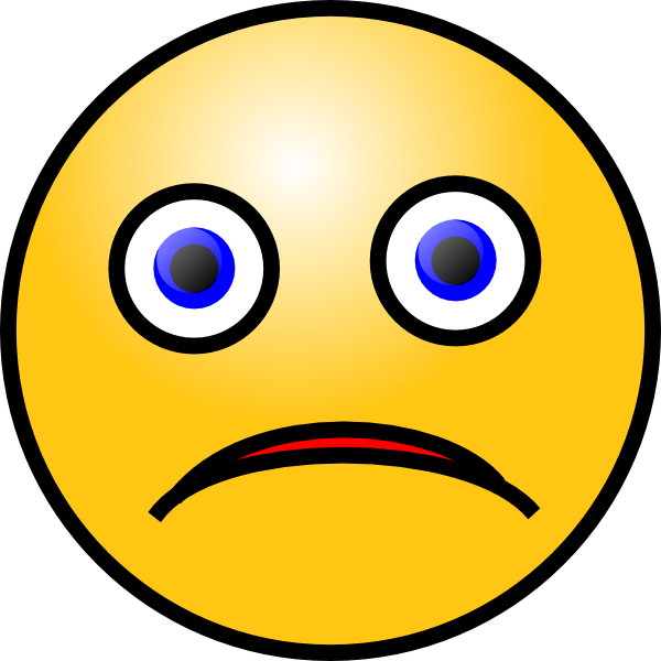 Fear clipart sad. Smiley clip art at