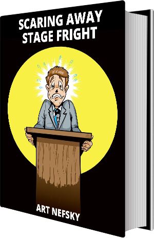 Fear clipart stagefright. Scaring away stage fright