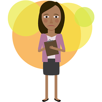 Fear clipart stressed female student. Online therapy stress depression