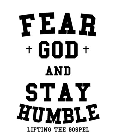 Fear of god logo png. And stay humble lifting