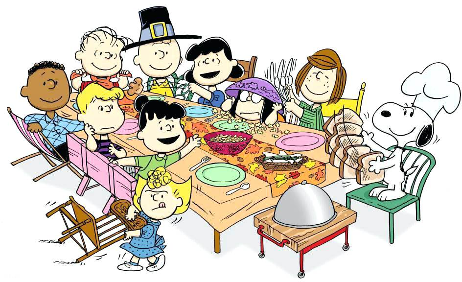 Feast clipart. First thanksgiving table free