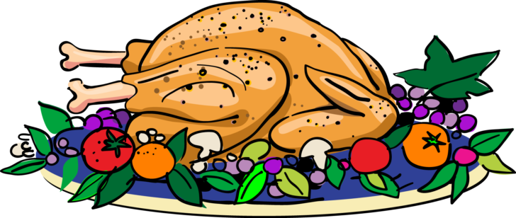 Feast clipart. Thanksgiving astonishing baked turkey