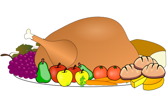 Turkey clipart thanks giving. Feast