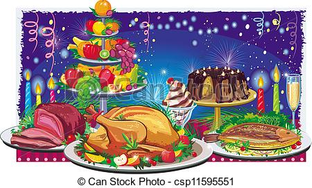 Dinner clip art and. Feast clipart png