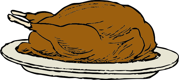 Drawing turkey cooked chicken. Free dinner images download