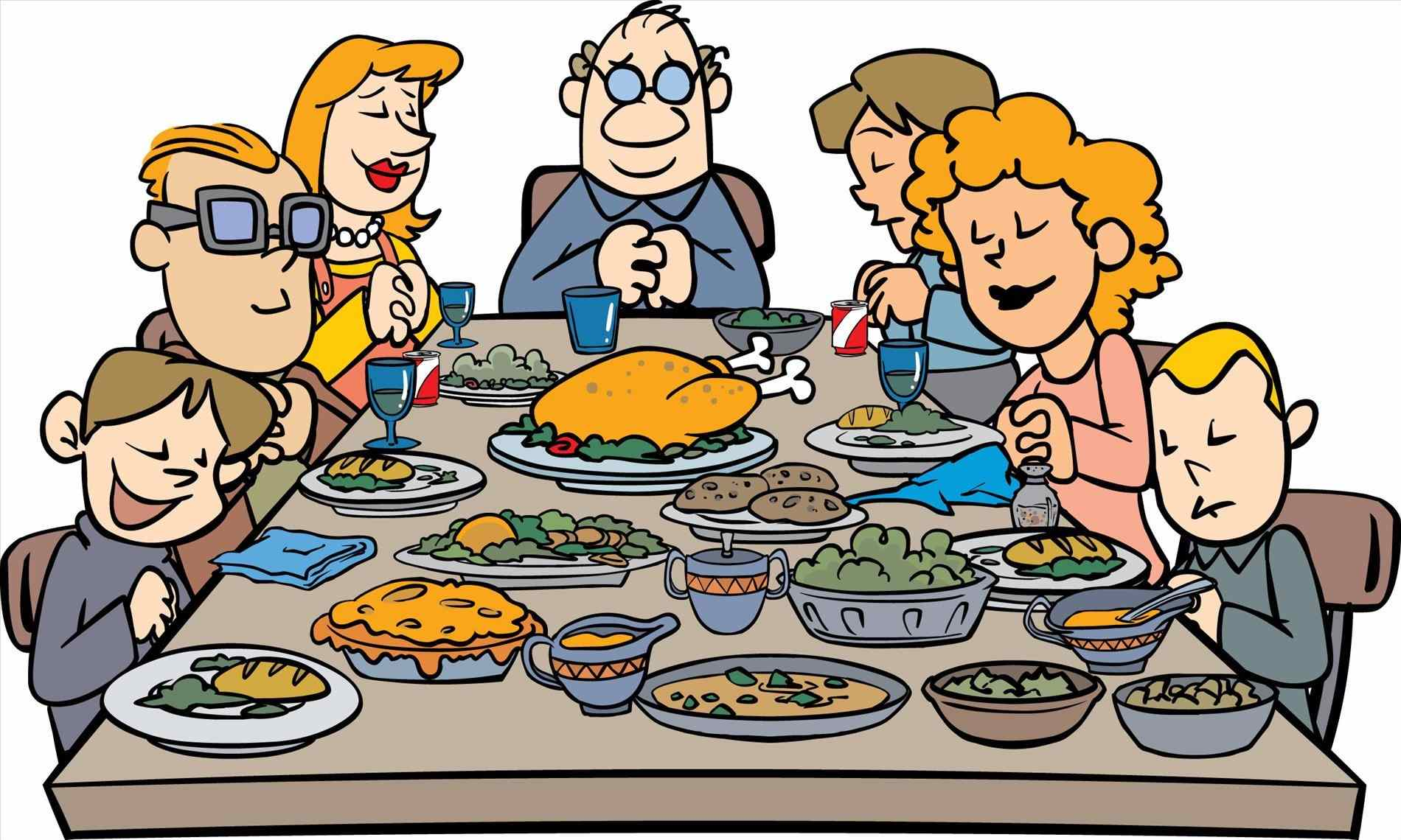 Feast clipart community. Thanksgiving dinner at getdrawings