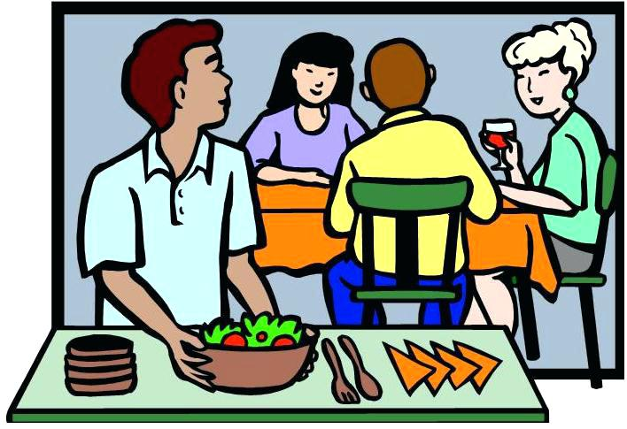 Feast clipart community. Clean dinner table and