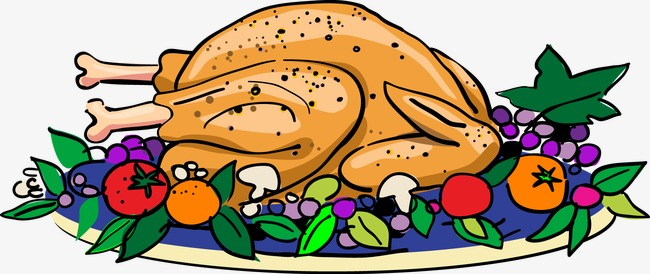 Feast clipart grilled chicken. Christmas dinner physic minimalistics