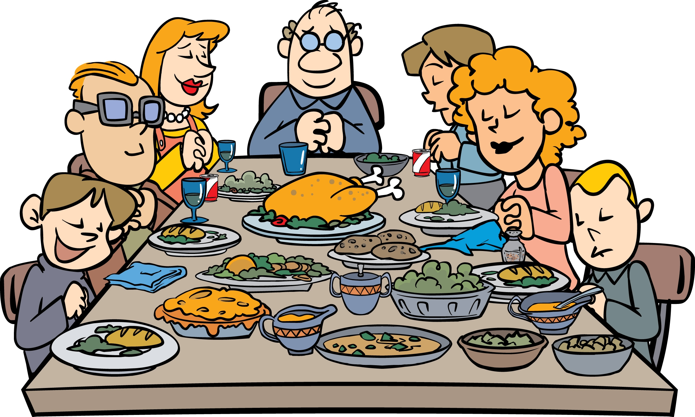 Feast clipart healthy diet. Family dinner at getdrawings