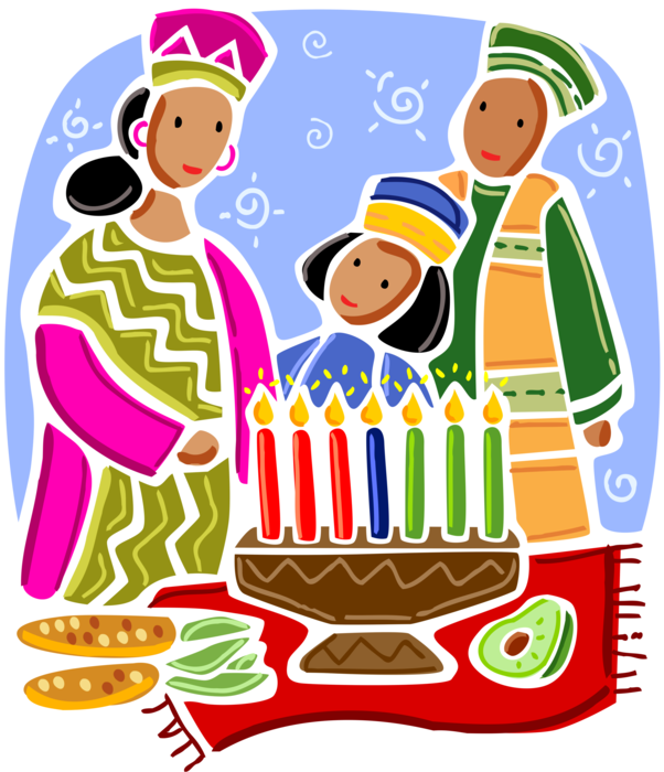 Feast clipart kwanzaa candle. Celebrating with kinara holder