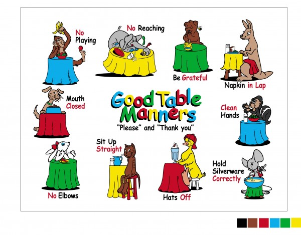 Feast clipart table manners. Top ten for children