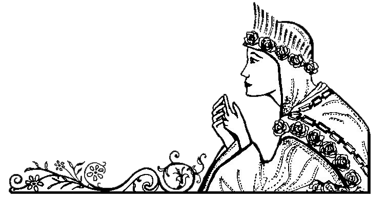 Feast drawing black and white. Of our lady la