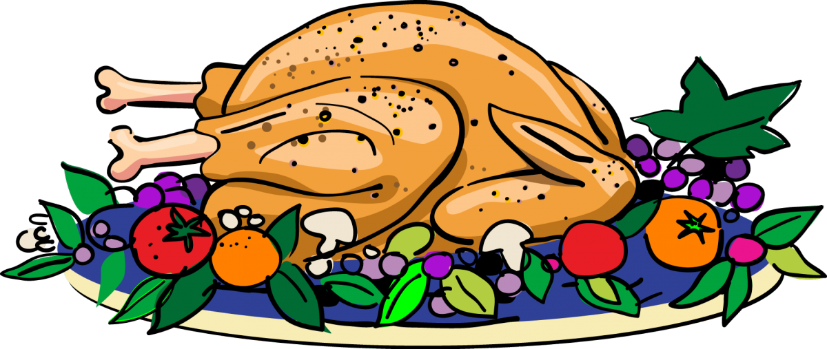 Feast drawing christmas dinner table. Collection of clipart