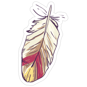 Feather clipart boho. Short sticker