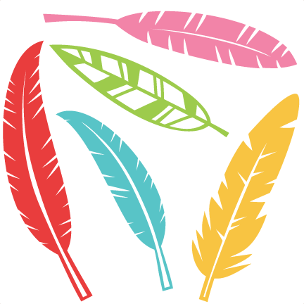 Feather clipart bunch. Set svg scrapbook cut