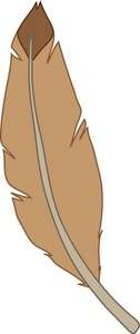 Feather clipart duck feather. Free image a brown