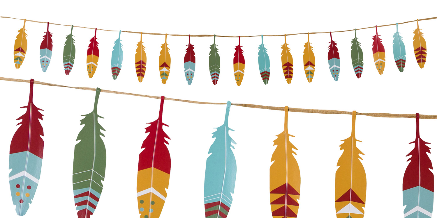 feather clipart garland