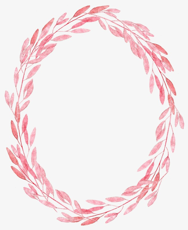 Feather clipart garland. Pink leaf plant drawing