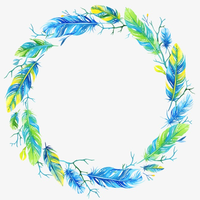 Feather clipart garland. Blue combination png image