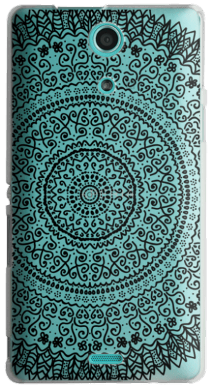 Feather mandala png. Cases black crystal clear