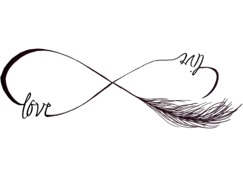 Feather tattoo png. Infinity symbol temporary mytat
