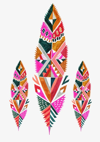Feathers clipart geometric. Patterns colored feather png