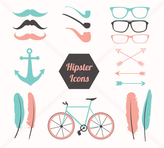 feathers clipart hipster