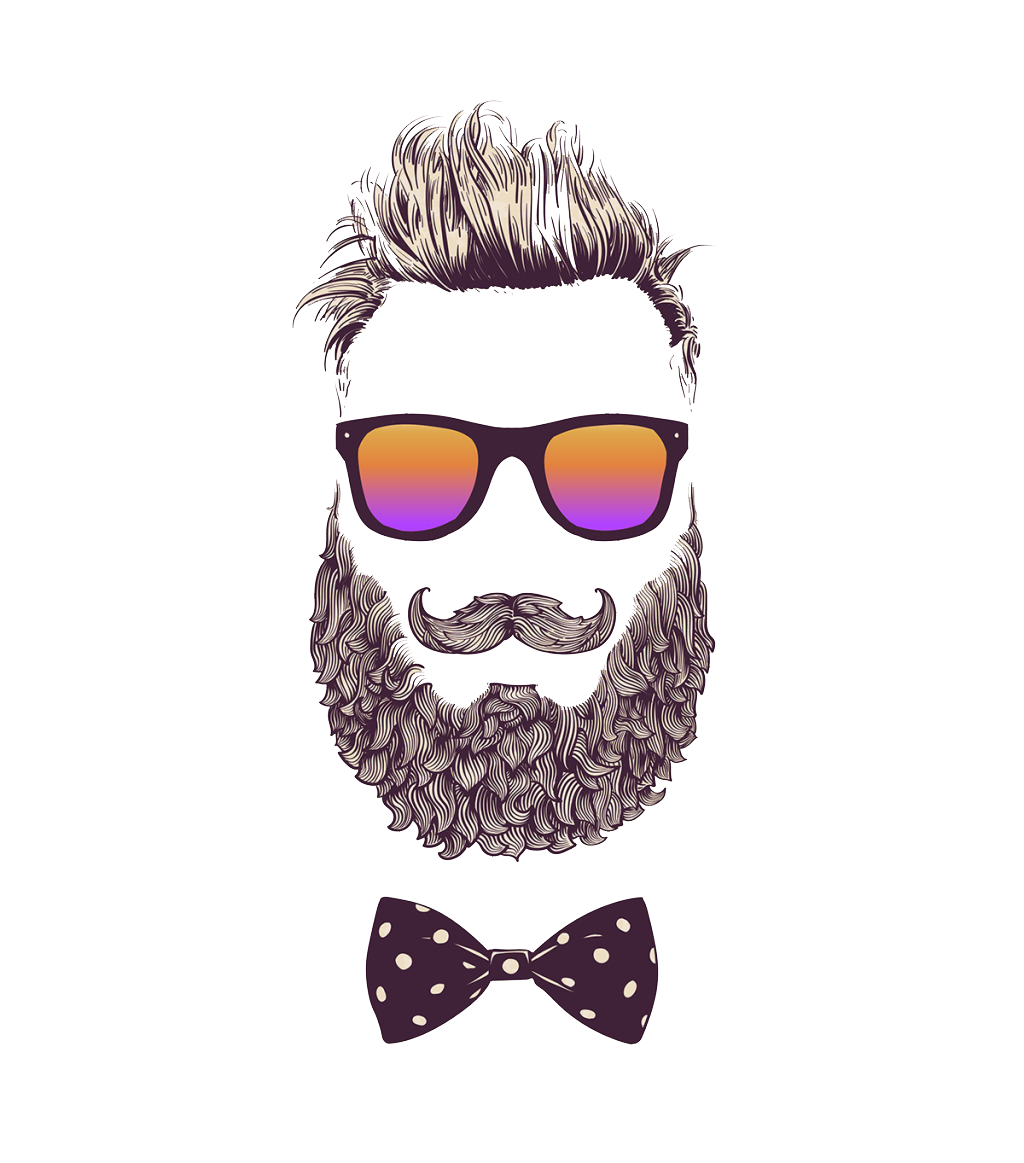 Feathers clipart hipster. Download bearded photography illustration
