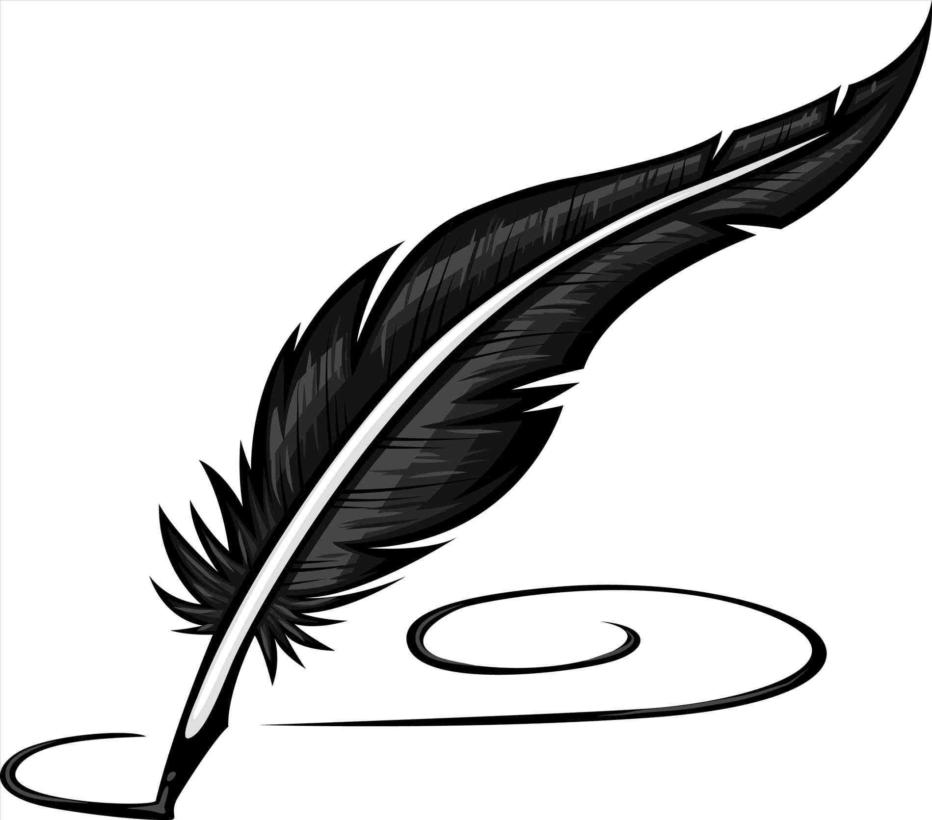 Feathers clipart ink. Feather pen clipartrhworldartsmecom u