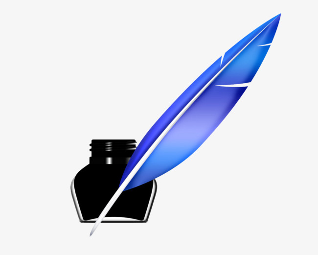 Feathers clipart pen and ink. Blue feather png image