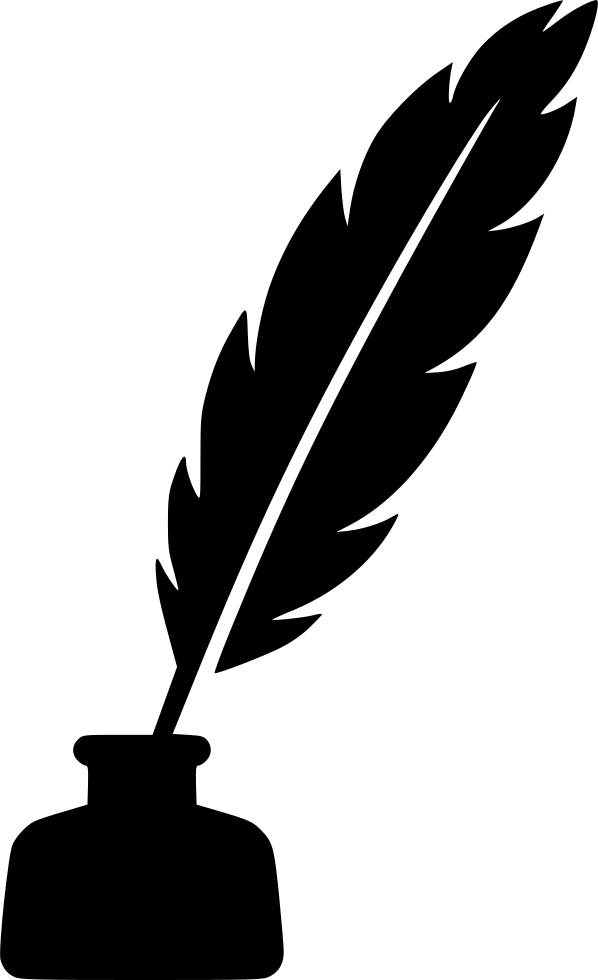 Feathers clipart pen and ink. Feather svg png icon
