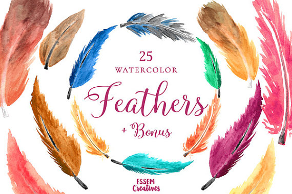Feathers clipart thanksgiving. Bohemian watercolor boho rustic