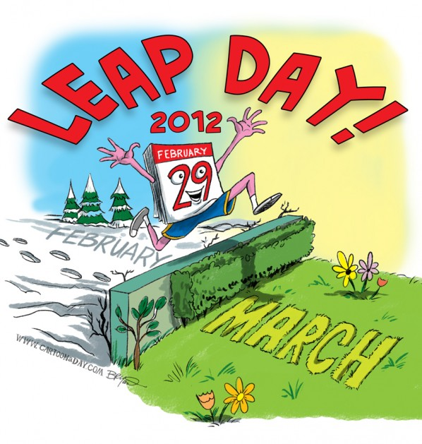February 29. Free leap year cliparts