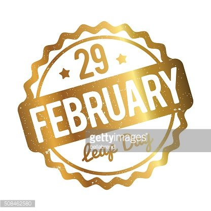 February 29. Leap day rubber