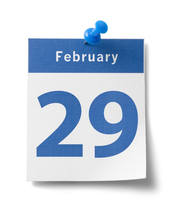 February 29. Th an extra day