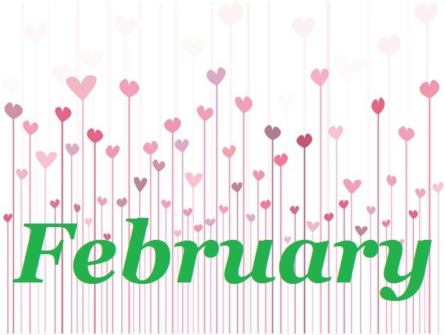 February clipart. Calendar of events lettering