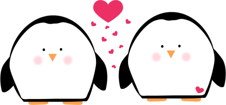 Valentine clipart penguin. Free text february cliparts