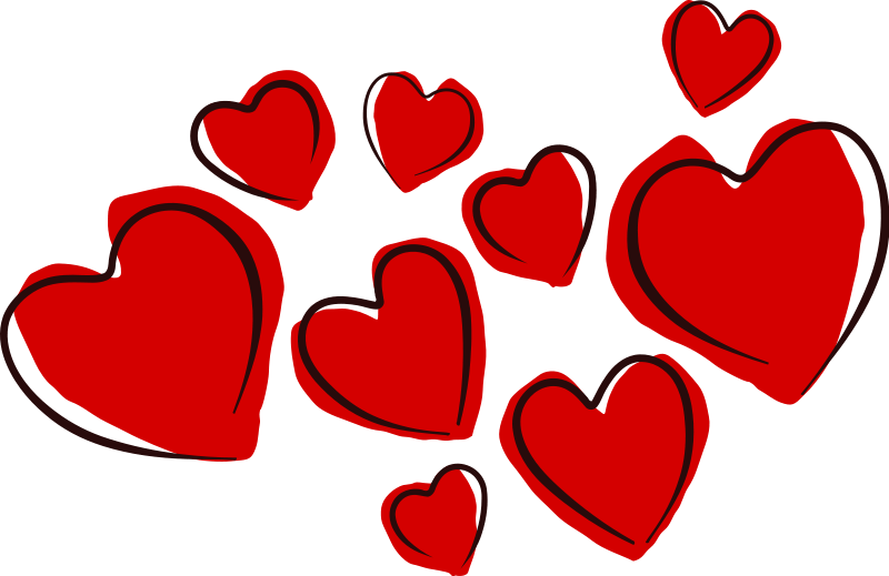 February clipart cluster heart. Transparent