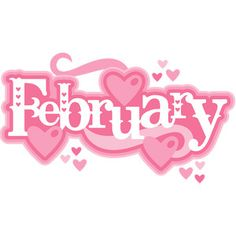 February clipart cute symbol. October title svg scrapbook